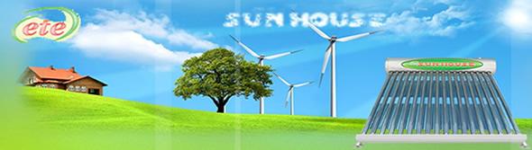 máy nước nóng mặt trời Sunhouse