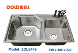 chậu inox Coldwell 2DL8448