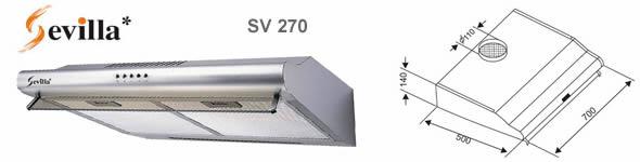 máy hút khói Sevilla SV 270I