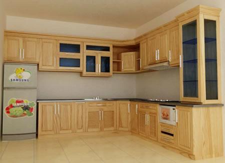 mẫu tủ bếp gỗ