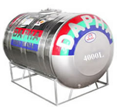Bồn nước inox Dapha R 4000L ngang