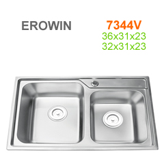 Chậu inox Erowin 7344V