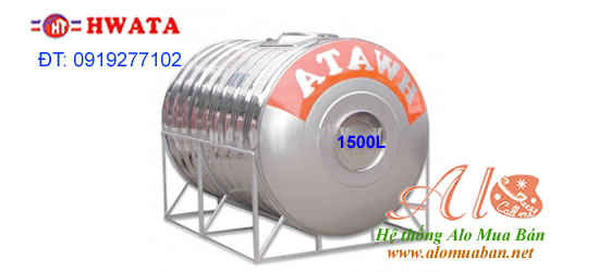 Giá Bồn Nước Inox Hwata 1.500 lít ngang