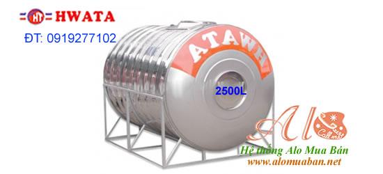 Bồn nước Hwata 2500L ngang