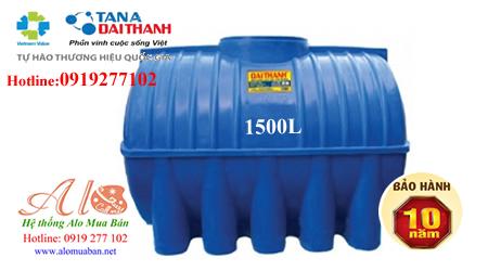 Bồn nhựa Đại Thành 1.500 lít nằm THM