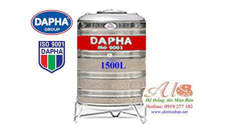 Bồn nước inox Dapha 1500 lít đứng