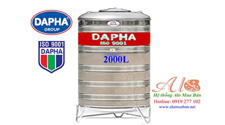 Bồn nước inox Dapha 2000 lít đứng