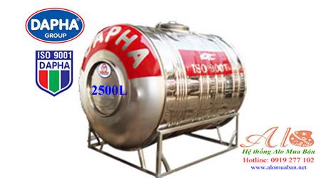 Bồn nước inox Dapha 2500 lít nằm
