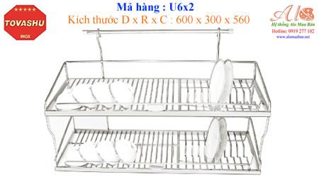 Kệ chén inox Tovashu 6T2