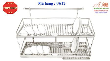 Kệ chén inox Tovashu U6T2