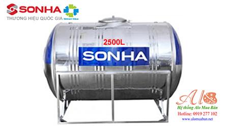 Giá bồn nước inox Sơn Hà 2.500 lít ngang