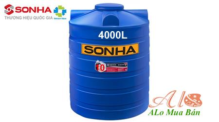 Bồn nước nhựa Sơn Hà 4000 lít đứng