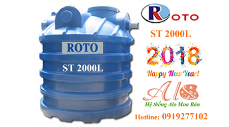 Bồn tự hoại Roto 2000L