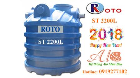 Bồn tự hoại Roto 2200 lít