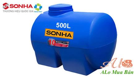 Giá Bồn nước nhựa Sơn Hà 500 lít nằm