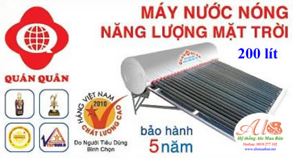 Máy năng lượng mặt trời Quán Quân 200 lít