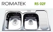 chậu rửa inox Romatek RS 02F