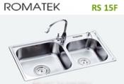 chậu rửa inox Romatek RS 15F