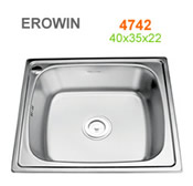 Chậu inox Erowin 4742