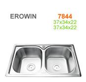 Chậu inox Erowin 7844