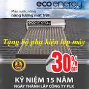 Máy năng lượng mặt trời 150 lít Eco Energy