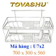 Kệ chén inox Tovashu 7T2