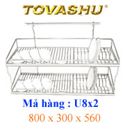 Kệ chén inox Tovashu 8T2