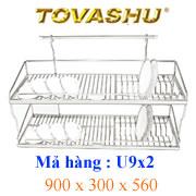 Kệ chén inox Tovashu 9T2