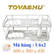 Kệ chén inox Tovashu U6X2