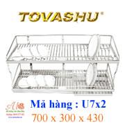 Kệ chén inox Tovashu U7X2