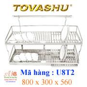 Kệ chén inox Tovashu U8T2