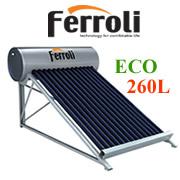 Máy nước nóng năng lượng mặt trời Ferroli 260 lít